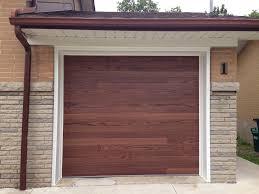 C H I Overhead Doors Accents Planks model 3216 in Dark Oak