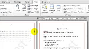 How To View One Page At A Time In Microsoft Word