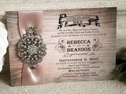 Vintage Rustic Wedding Invitation With Wood From Stephita