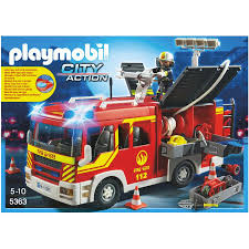 Playmobil Fire Engine With Lights And Sound | KidzInc Australia Playmobil Take Along Fire Station Toysrus Child Toy 5337 City Action Airport Engine With Lights Trucks For Children Kids With Tomica Voov Ladder Unit And Sound 5362 Playmobil Canada Rescue Playset Walmart Amazoncom Toys Games Ambulance Fire Truck Editorial Stock Photo Image Of Department Truck Best 2018 Pmb5363 Ebay Peters Kensington