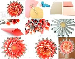 Crafts For Home Project Ideas Paper Dahlia Wreath Flowers Made Easy Craft Idea Decor Ho Decorating