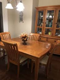 Maple Wood Dining Table And Matching Hutch For Sale In Belmont NC
