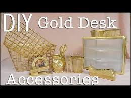Office Desk Accessories Walmart by Diy Affordable U0026 Easy Gold Desk Accessories Whiskey U0026 Whit