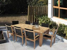 Stackable Outdoor Sling Chairs by Captiva Sling Dining Chair U2013 Teak Table