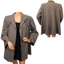 vintage 1940s swing jacket gray wool ladies coat size m from