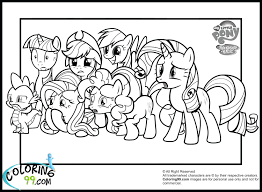 Free Printable Coloring Pages My Little Pony Ponies Equestria Full Size