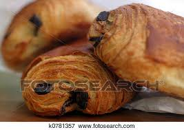 A Croissant Filled With Chocolate Tasty And Delicious Traditional French Breakfast Pastry Fresh From The Bakery