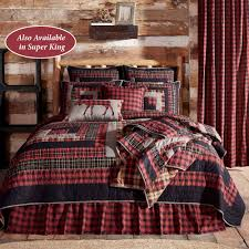 Cumberland Rustic Red Plaid Quilt Bedding By Oak Asher
