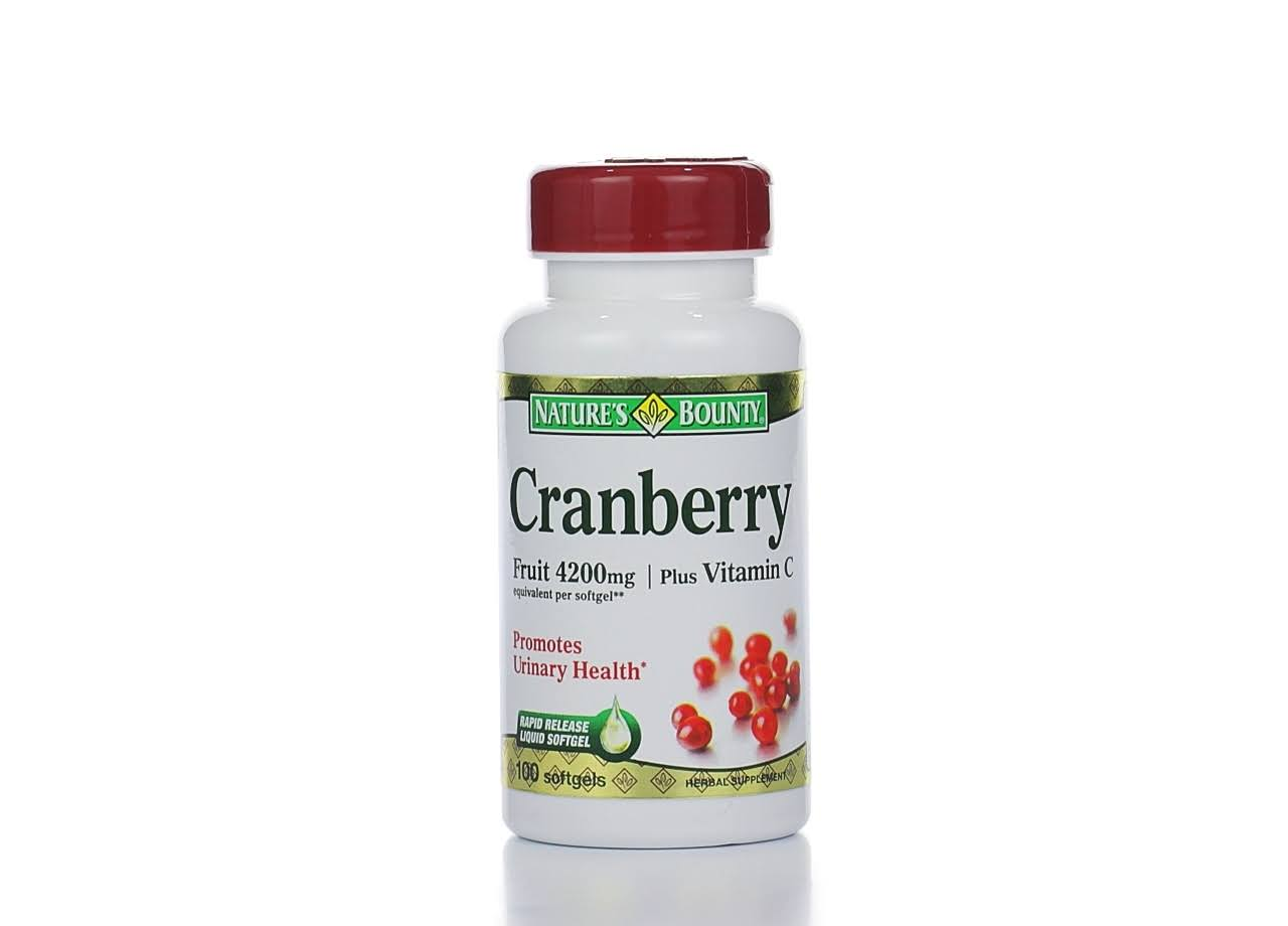 Nature's Bounty Cranberry Dietary Supplement - 4200mg, 120 Rapid Release Softgels