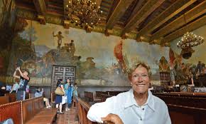 courthouse mural room makes santa barbara county s history a work