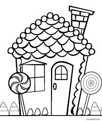 Cotton Candy Coloring Sheet Sheets Pages Gingerbread House