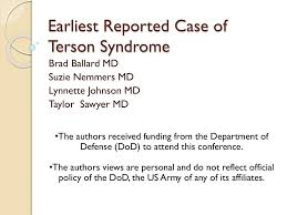 Earliest Reported Case Of Terson Syndrome