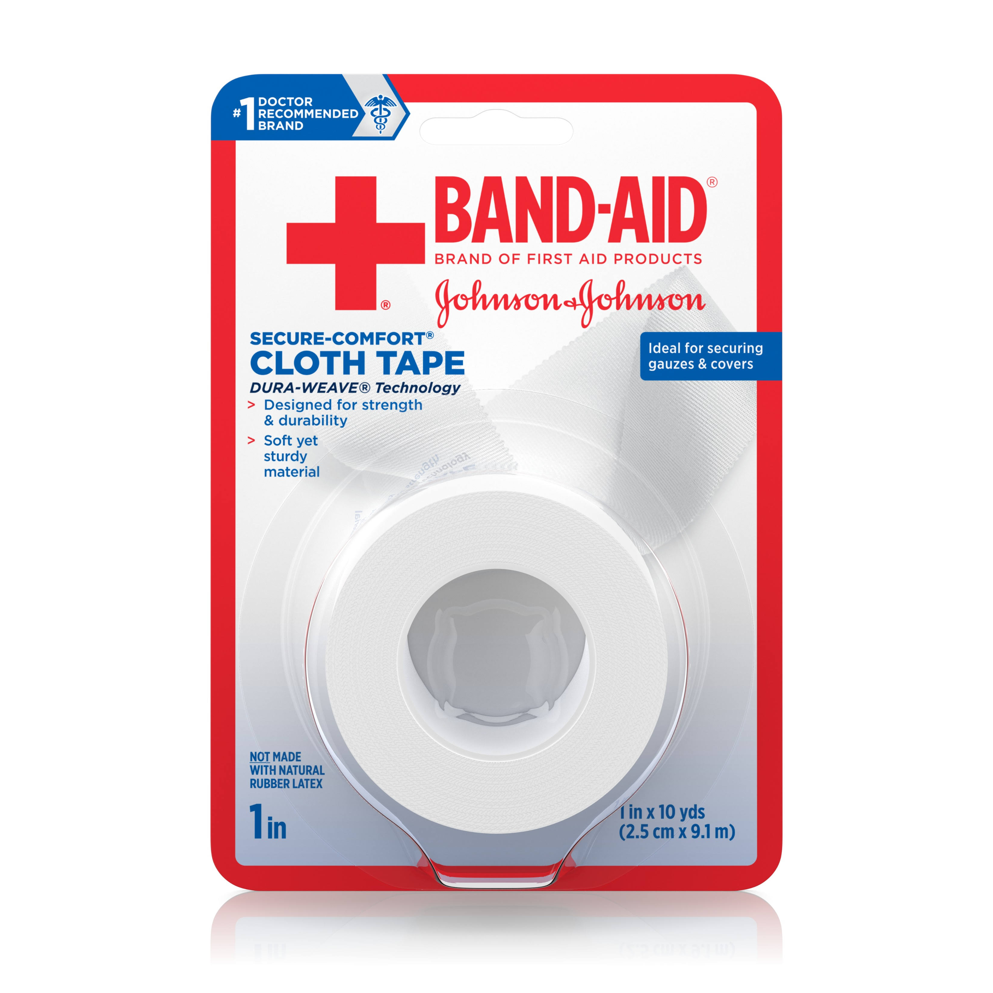 "Johnson and Johnson Band-Aid Cloth Tape - 1"" x 10yds"