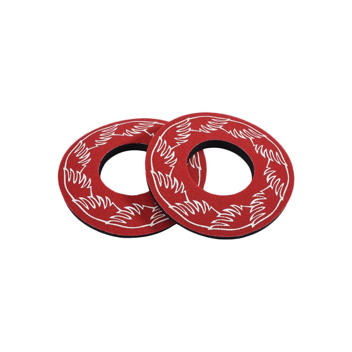 Se Racing Wing BMX Grip Donuts - Red, Pair