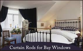 Blockaide Adjustable Double Curtain Rod Set by Bay Window Curtain Rod Lowes Decorating Ideas Gallery In Spaces