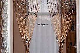 wooden bead door curtain amazon co uk kitchen home
