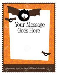 Free Halloween Invitation Templates Microsoft by Halloween Border Templates U2013 Fun For Christmas