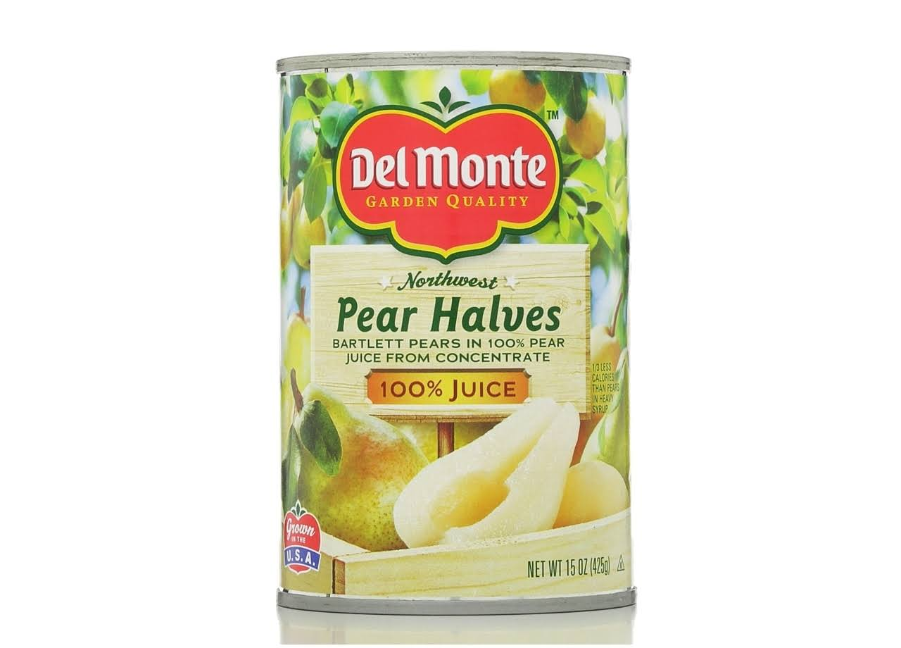 Del Monte Pull Top Lid Pear Halves - in Juice, 15oz