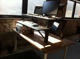 Dual Monitor Standing Desk Attachment by Standing Desks Ikea Decorative Desk Decoration