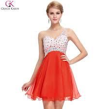 online get cheap orange short prom dresses aliexpress com