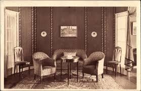 ansichtskarte postkarte rüti kt zürich schweiz wohnzimmer im biedermeier stil sessel sofa