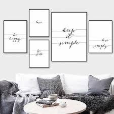nordic minimalistischen schwarz weiß kunst leinwand malerei