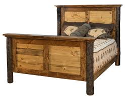 Amish Wildwood Rustic Wood Panel Bed