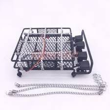 1/10 SCALE RC Rock Crawler Truck Luggage Carrier Roof Rack With 4 ...