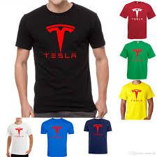Tesla Motors Car Elon Musk Fan Moto Rally Nikola Eléctrico Empollón Friki Camiseta 100 Algodón Camisetas Marca Ropa Tops Camisetas Alta Calidad