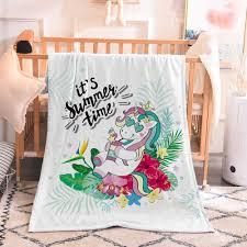 miracille bunte einhorn print flanell nette mädchen sofa napping tv decke schlafzimmer dekoration decke