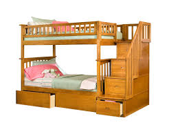 Bunk Beds Columbus Ohio by Harriet Bee Abel Staircase Twin Over Full Bunk Bed With Drawers