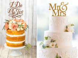 Mr Mrs Sentiment Wedding Cake Toppers