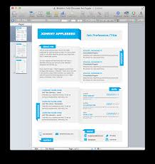 One Page Resume Templates Modern Template