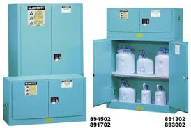 Justrite Flammable Cabinet 45 Gallon by 893002 Justrite Blue Steel Safety Cabinet For Corrosives 30