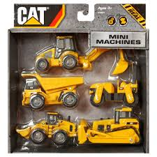 100 Caterpillar Dump Truck Toy Mini Machines 5 PACK