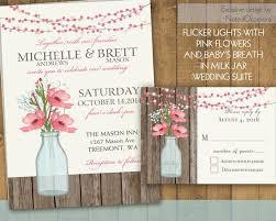 Mason Jar Wedding Invitation Suite