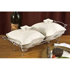 Godinger Ceramic Double Warmer Chafing Dish