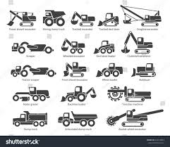 Construction Machinery Icons Set Each Icon Stock Vector 644510893 ...
