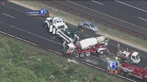 Cement Truck Flips After Crash On Garden State Parkway | 6abc.com Video Tired P0ce W0man Crvhed To D3th By Cement Truck In Spur Cement Truck Video Famous 2018 Carson Crash Overturned Cement Truck Snarls Sthbound 110 Freeway With Pretty Eyelashes Valcrond Concrete Delivery Mixer Trucks Rear Chute Review For Children Cstruction Vehicles Heavy Russian Dashcam Of A Falling Into Giant Hole In Kids Channel For Trucks Kids Learn Colors Cartoons Babies Videos Only Russia Swallowed By Sinkhole Aoevolution Clip Art
