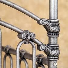 bratt decor venetian iron crib in pewter