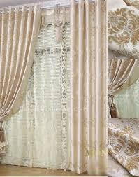 coffee jacquard living room curtains designs