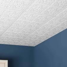 genesis ceiling tile 2x2 antique tile in white