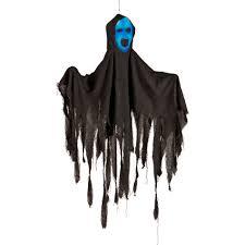 Motion Activated Halloween Decorations by Lemax Indoor Outdoor Black Hanging Ghost Halloween Decoration U2014kmart