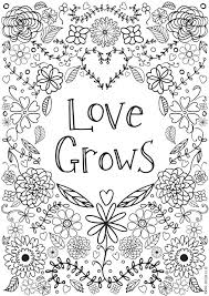 Free Printable Coloring Pages For Adults No Downloading Download Pdf Love Grows Colouring Inspirational