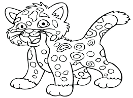 Wild Animals Coloring Pages Printable Pdf Of P