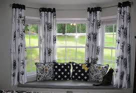Homey By Window Design With Attractive Seating Area Plus Splendid Curtain Ideas