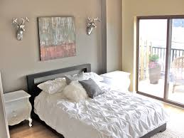 Decoration Furniture Bedroom Dazzling Gray Wall Painted