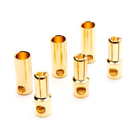 Dynamite Gold Bullet Connector Set 5.5mm (3) Dync0089
