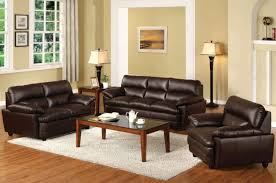 wall decor with creative awesome brown sofa living room design