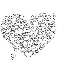 Valentines Day A Giant Heart Shaped Cloud On Coloring Page